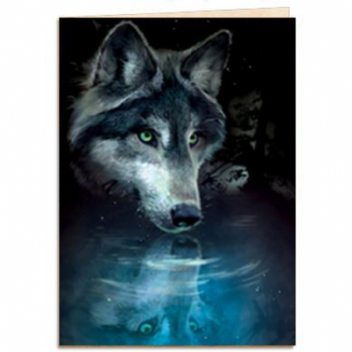 Wolf Reflection Greeting Card | Tree-Free Greetings®